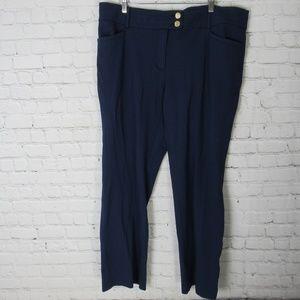 Anne Klein Pants Womens 16 W Blue Career Plus Size